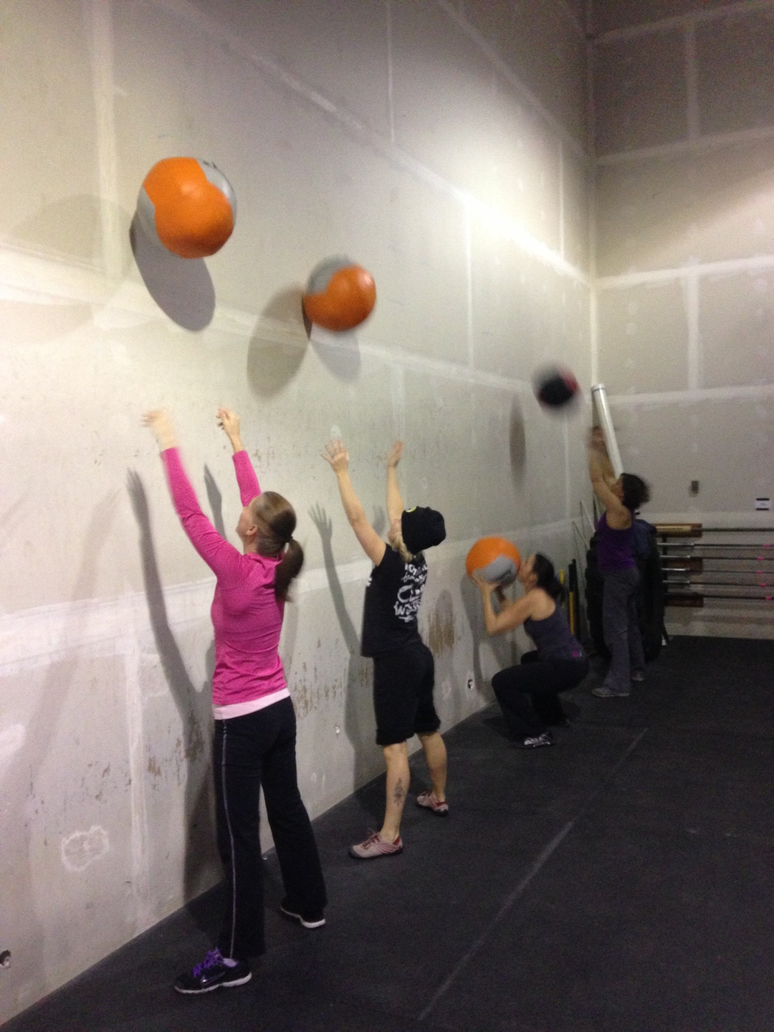 Who doesn't love Wall Balls? Kendra? Chirs? Jill? Winner gets $50.