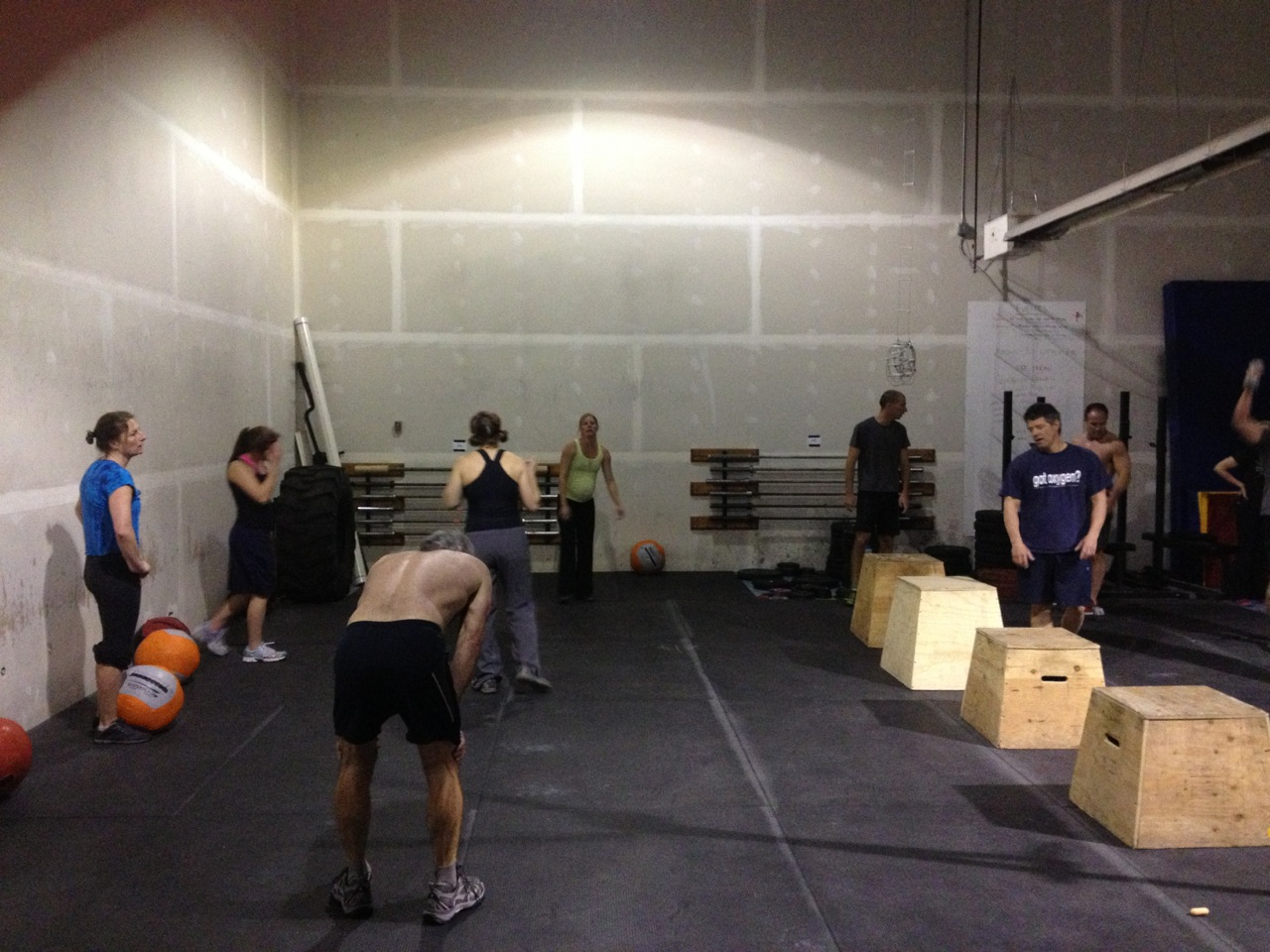 Look at all the fun we're having. Yay CrossFit!