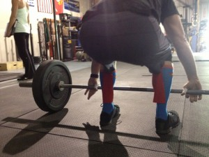 Superman was here for CrossFit Game Open WOD 13.4 but then he was off like a flash ... kinda thought he'd have a better ass ...