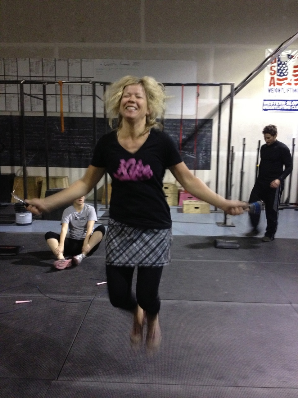 Kendra LOVES double unders ... almost as much as me snapping her photo during them!
