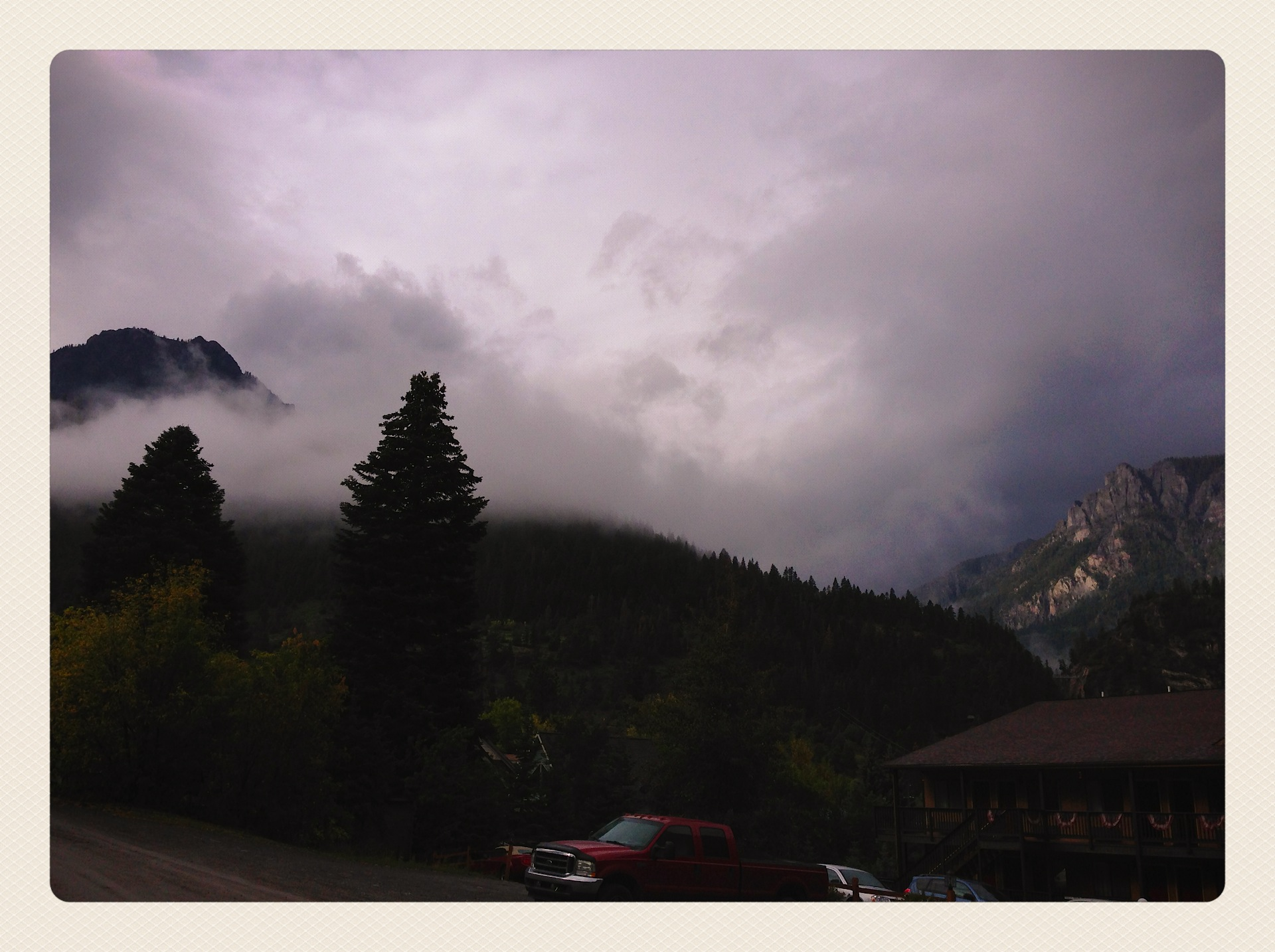 Creepy morning in Ouray for sure