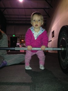 Cute baby on barbell alert!!!